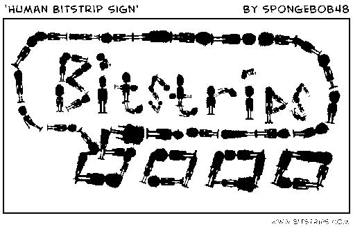 'Human Bitstrip Sign'