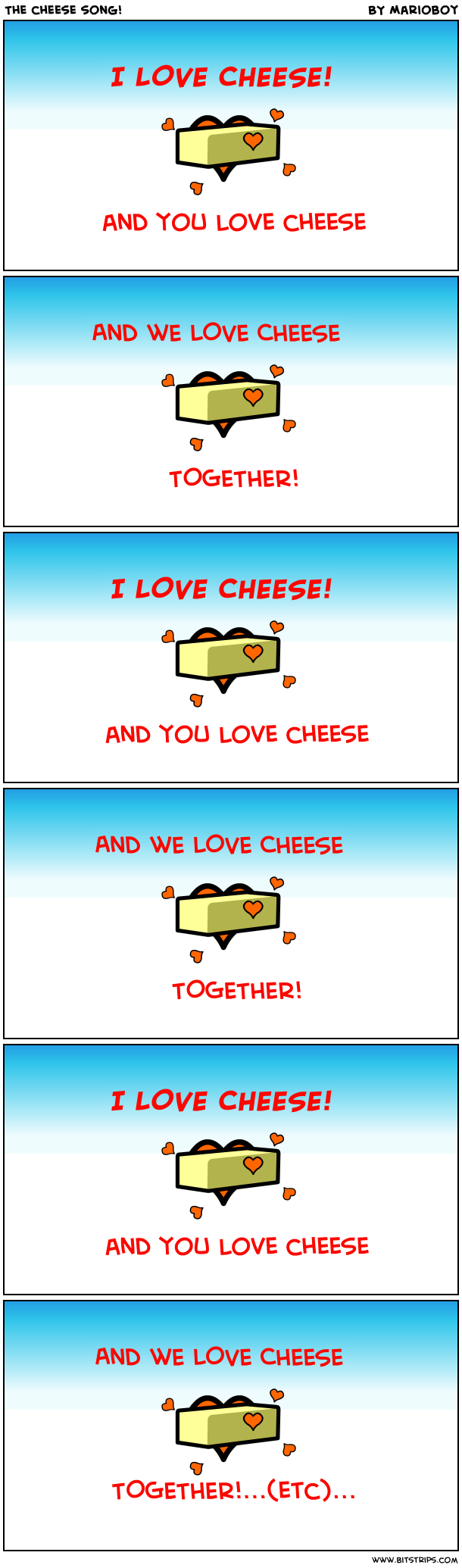 The cheese song!