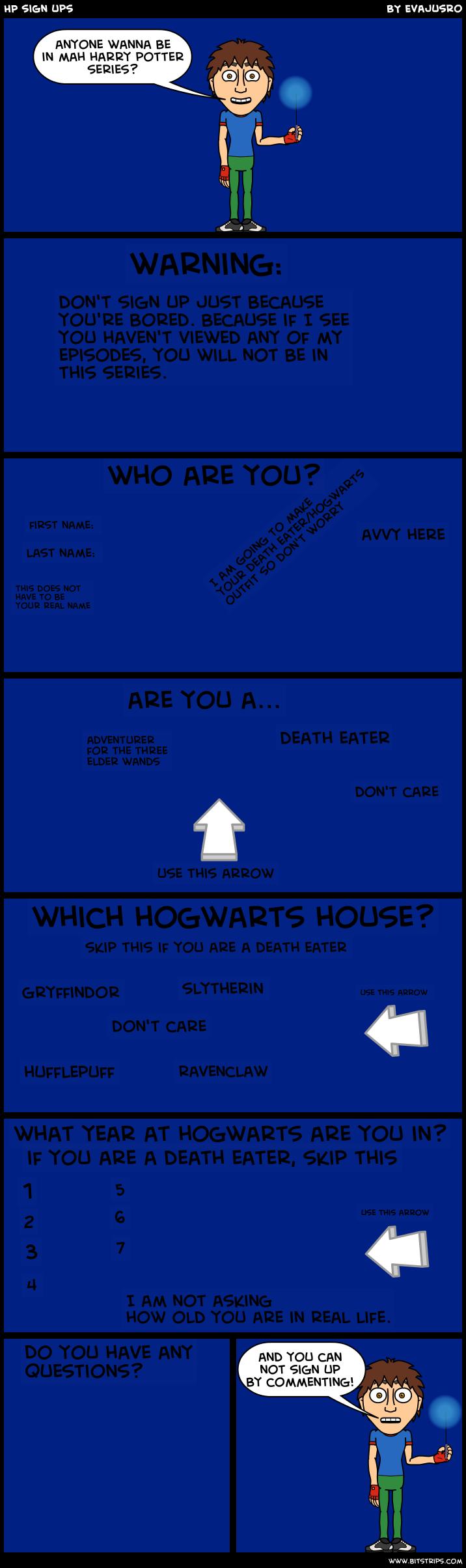 HP sign ups