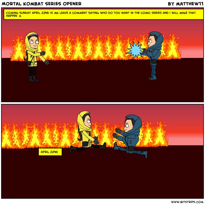Mortal Kombat series opener
