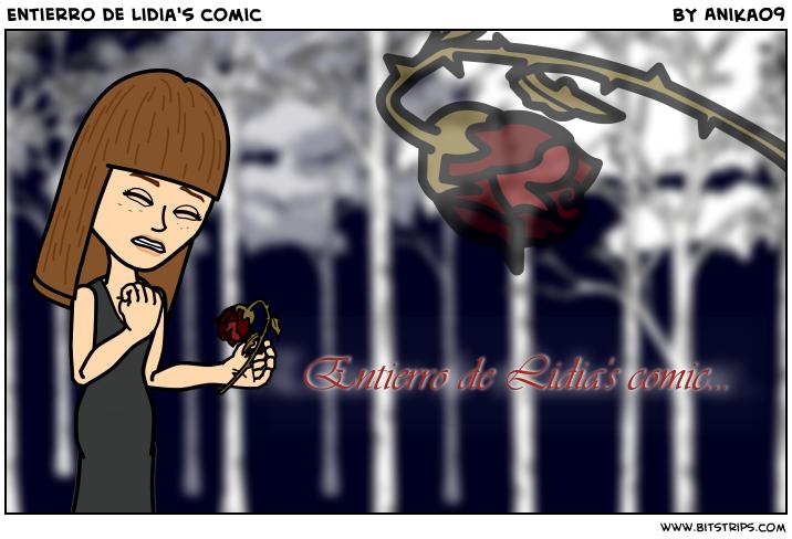 Entierro de Lidia's comic