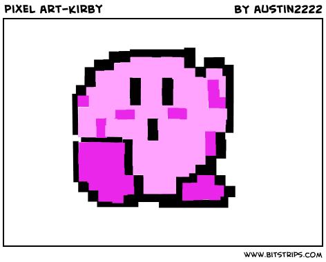 pixel art-kirby