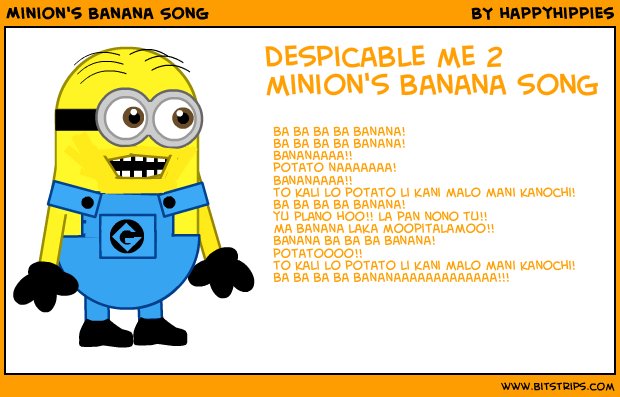 Pictures of Minion Banana Song Lyrics - #rock-cafe