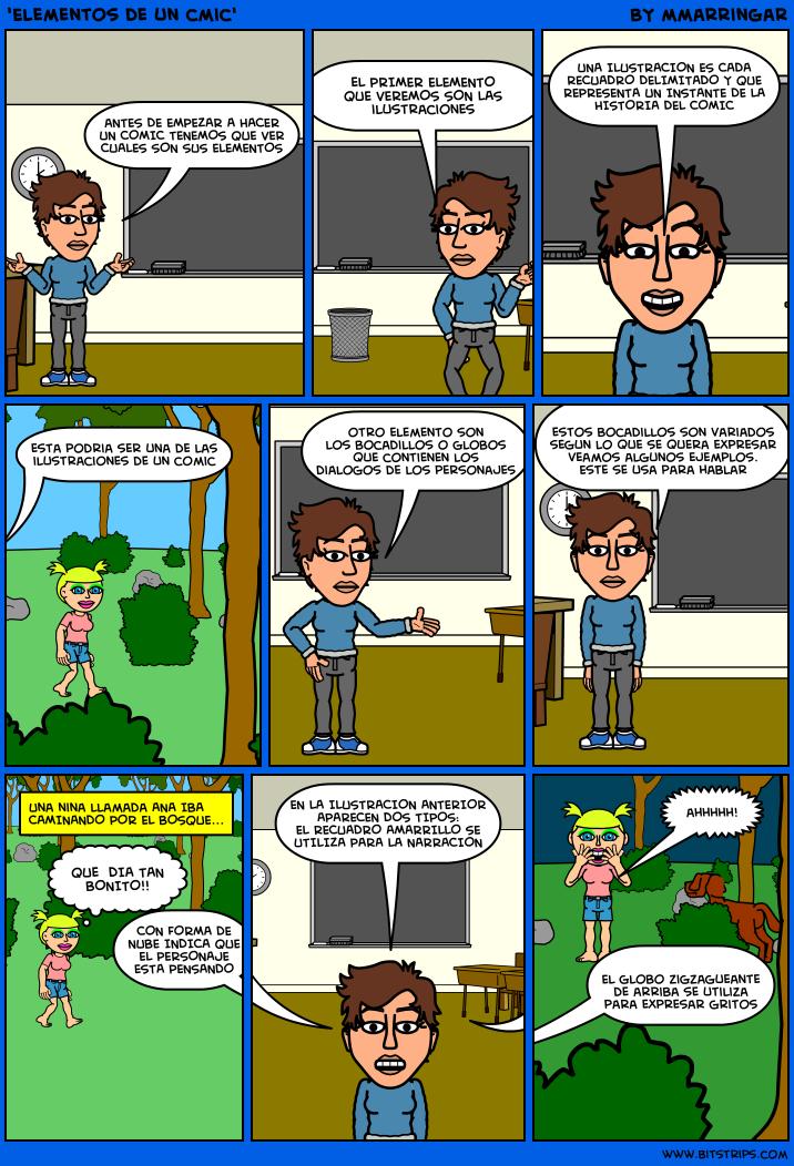 'Elementos de un cómic'