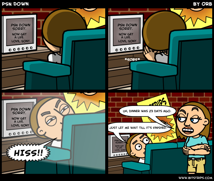 PSN Down - Bitstrips