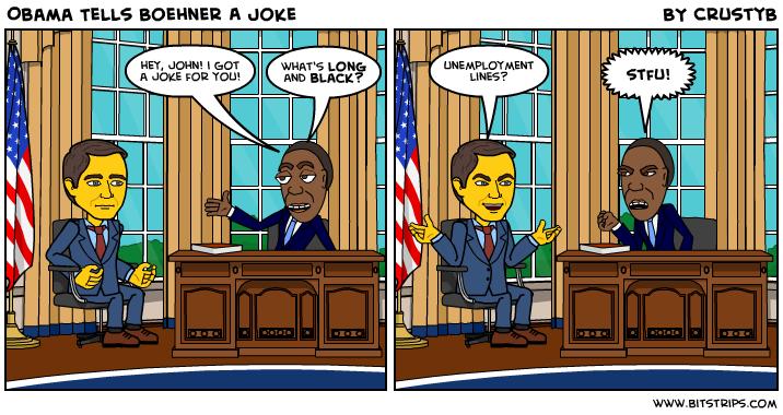 Obama Tells Boehner A Joke