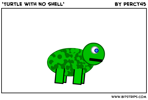'Turtle with no shell'