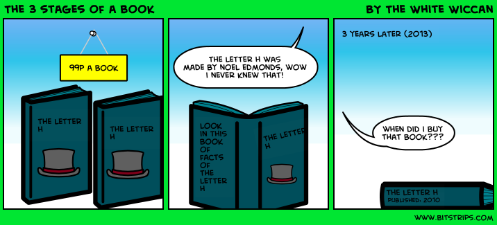 The 3 stages of a book