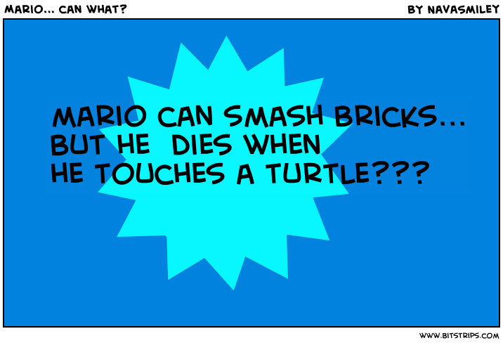 Mario... can what?