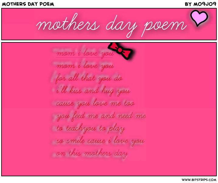 Mothers Day I Love You Poems
