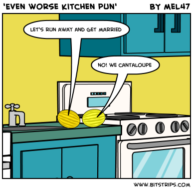 'Even worse kitchen pun'