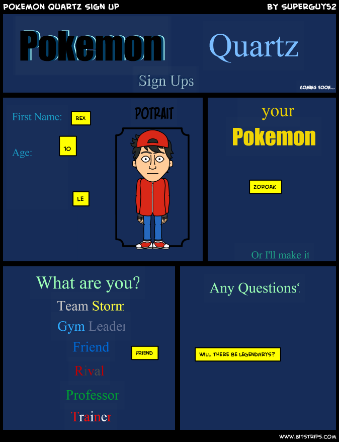 Pokemon Quartz Sign Up