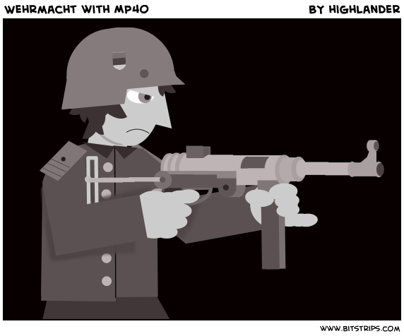 Wehrmacht with MP40