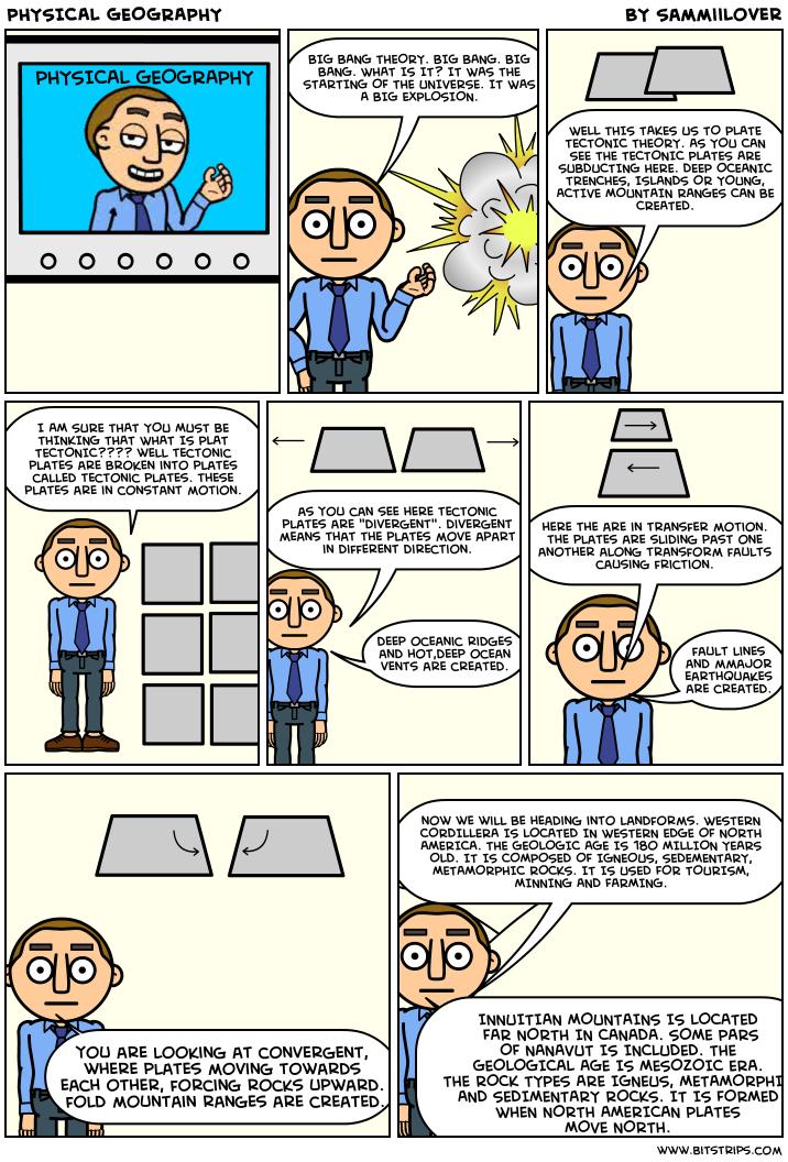 Big bang comic strip
