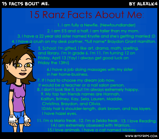 15 Facts bout' Me.