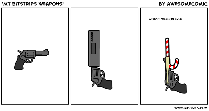 'my bitstrips weapons'