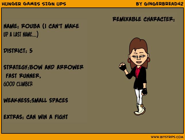 HUNGER GAMES SIGN UPS