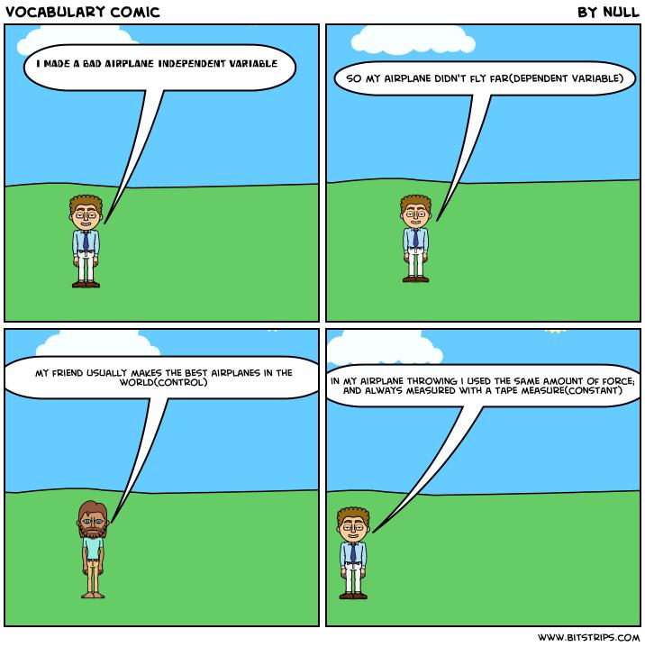 vocabulary comic - Bitstrips