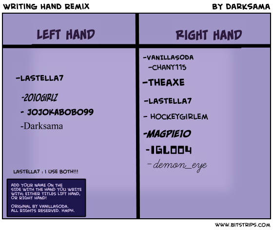 Writing Hand Remix