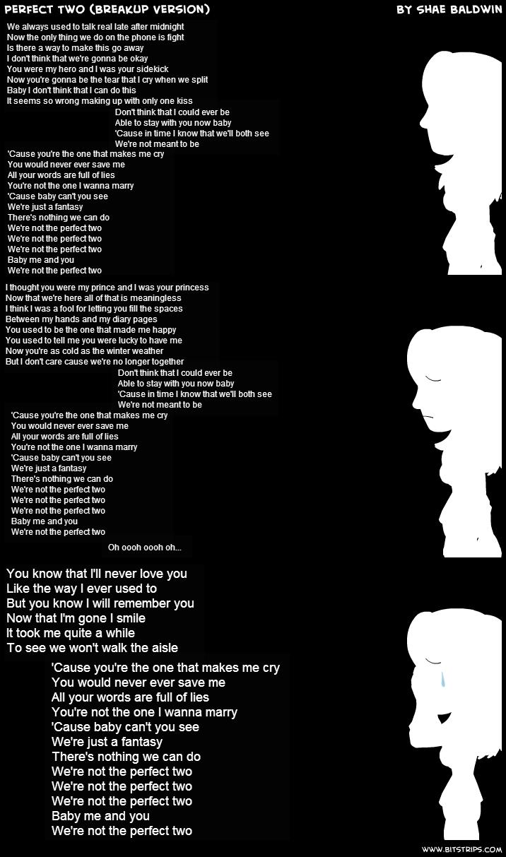 Perfect 2 breakup version lyrics