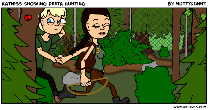 Katniss Showing Peeta Hunting