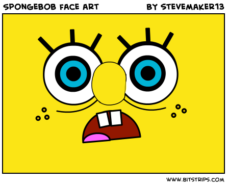 Spongebob face art