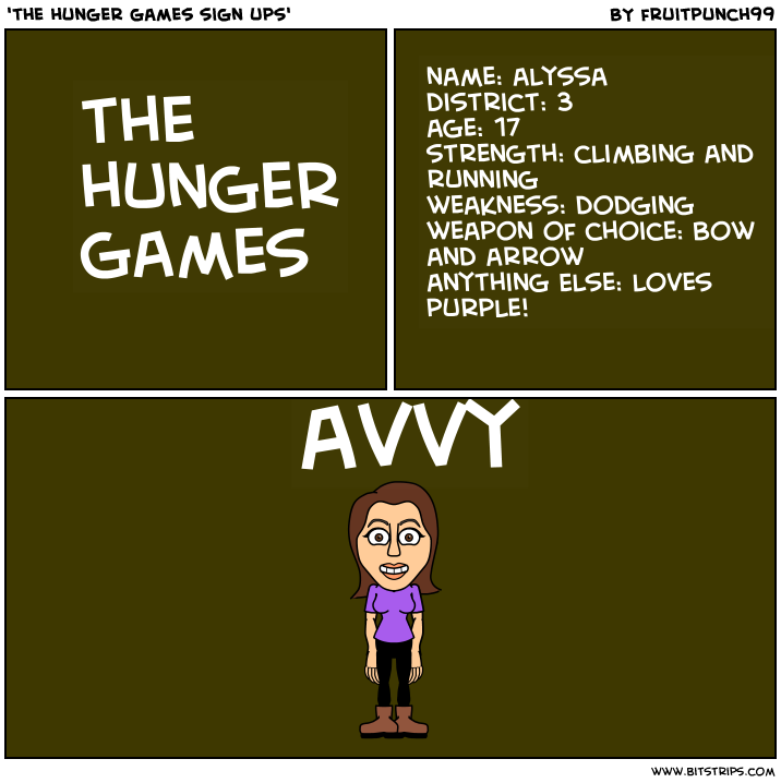 'the hunger games sign ups'