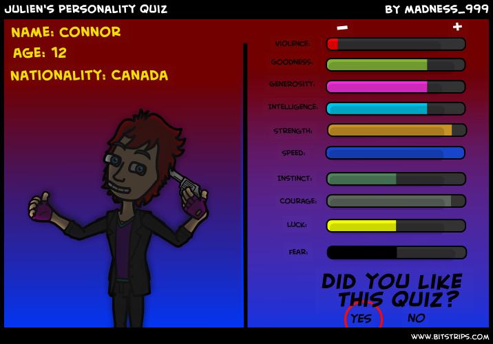 Julien's personality quiz