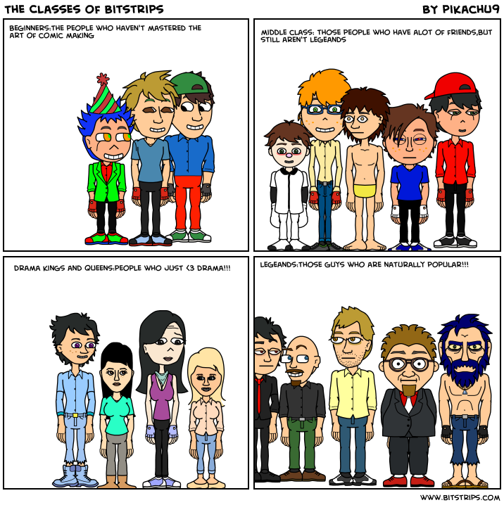 The Classes of Bitstrips