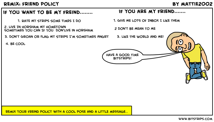 Remix: friend policy