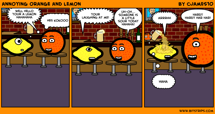 annoying orange and lemon