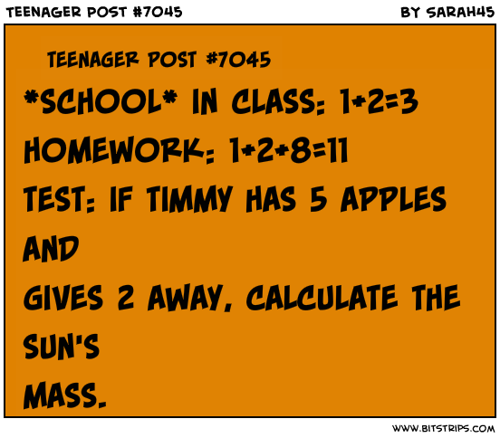 Teenager Post About Homework Teenager Post 7045