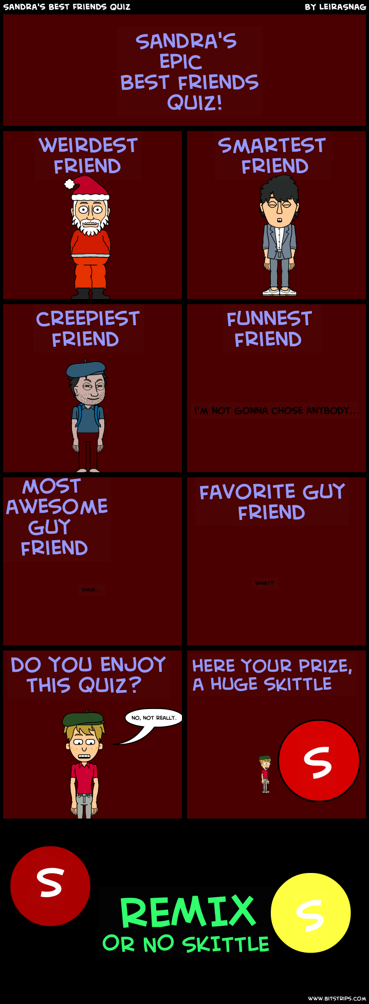 Sandra's Best Friends Quiz