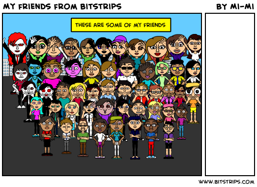 My friends from bitstrips