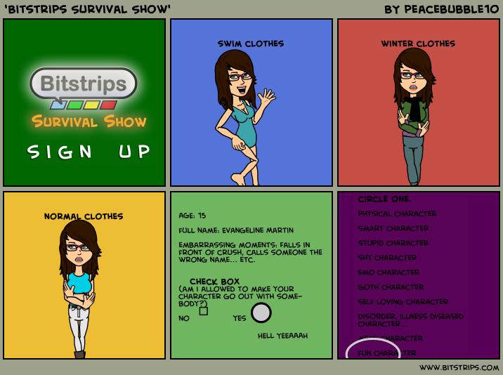 'Bitstrips Survival Show'