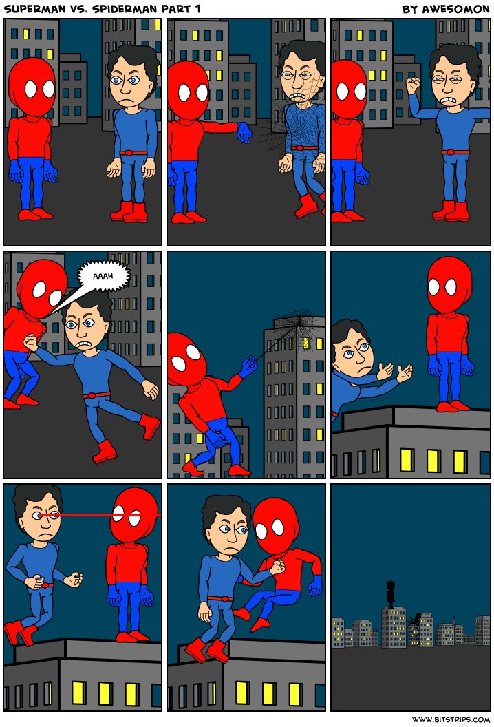 superman vs. spiderman part 1