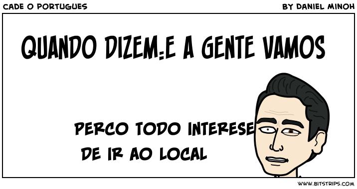 cade o portugues