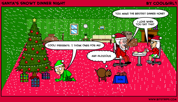 Santa's snowy dinner night