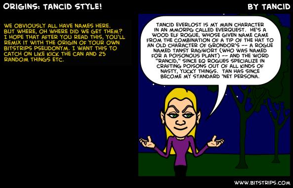 Origins: Tancid style!