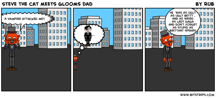 Steve the cat meets glooms dad