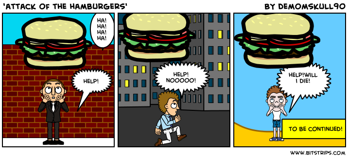 'attack of the hamburgers'