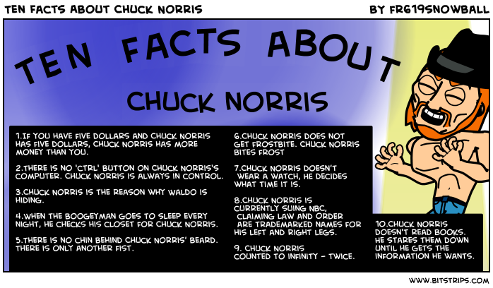 Ten Facts About Chuck Norris