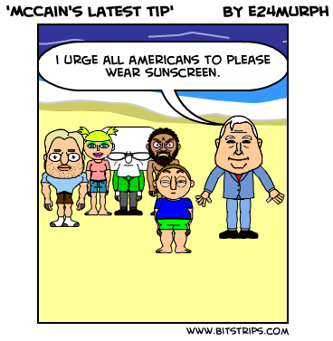 'McCain's latest tip'