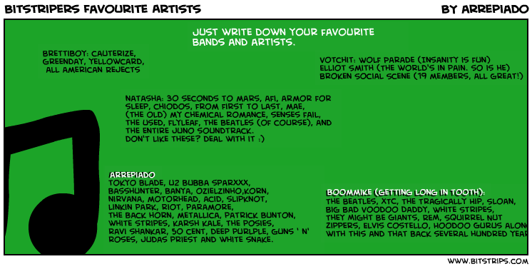 Bitstripers Favourite Artists