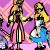Sofia, Eilonwy, Alice & Wendy
