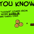 Cookie means...