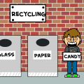 How to be a recycling bin