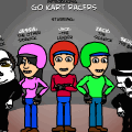 go kart racers