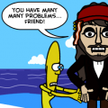 'bananaman:Jack sparrow'