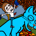 timmy And His Blue-Cat